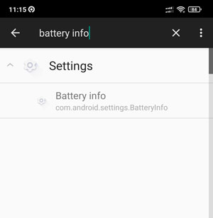 Ketik Battery Info Di Activity Launcher