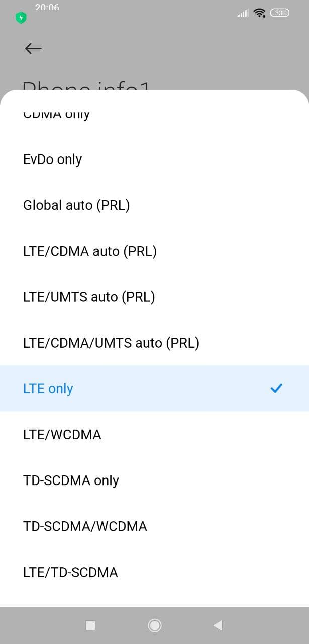 Lte Only