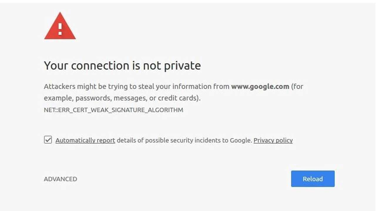 Cara Mengatasi Your Connection Is Not Private Di Windows